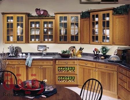 Cherry kitchen cabinets courtesy of DeWils Industries