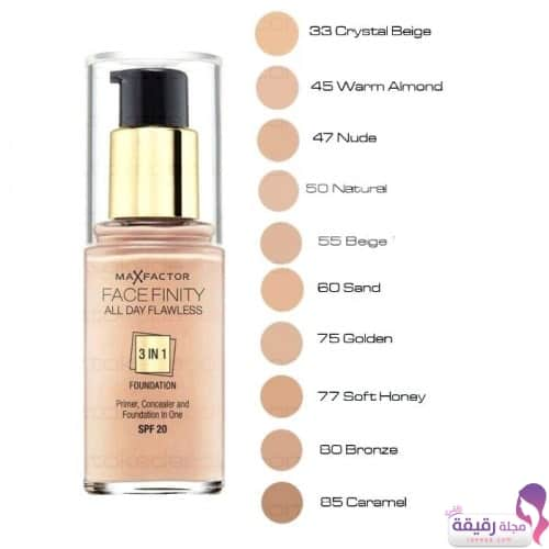 درجات كريم أساس Face Finity All Day Flawless