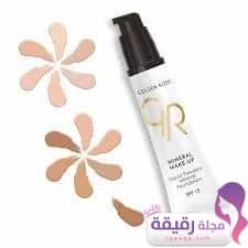 golden roseLiquid Powdery Mineral Foundation