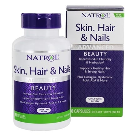 حبوب natrol skin hair nails